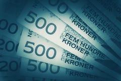 Norwegian Krones Closeup Stock Photo