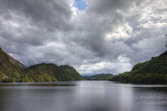 Norwegian lake. And dramatic sky, Europe Royalty Free Stock Photos