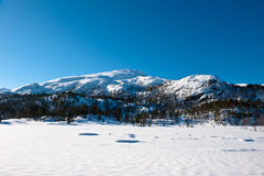 Norwegian landscape. Beautiful norwegian landscape 30 minutes east of Bergen city Royalty Free Stock Photo