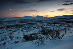Norwegian landscape. Scenic winter landscape of Norway Royalty Free Stock Images