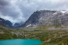 Clouds over Syrtbyttnose mountain Syrtbyttdalen Oppland Norway Scandinavia stock images
