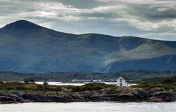 Norwegian landscape near the Atlantic road Royalty Free Stock Image