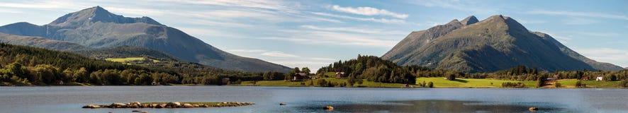 Norwegian landscape, panorama Royalty Free Stock Image