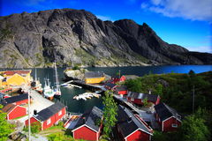 Norwegian landscape and sea Stock Images