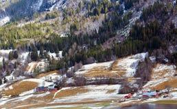 Norwegian landscape in the spring Stock Image