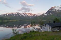 Norwegian landscape at sunset Royalty Free Stock Photo