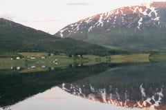 Norwegian landscape at sunset Royalty Free Stock Image