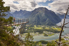 Norwegian landscape viewpoint. Romsdal fjord, Romsdal mountains. Royalty Free Stock Photography