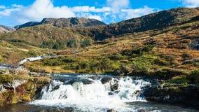 Norwegian landscapes. A waterfall in beautifull Norwegian nature Stock Image