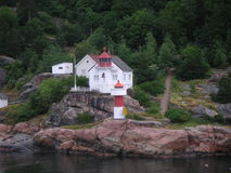 Norwegian lighthouse Stock Photography