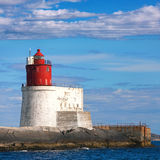Norwegian Lighthouse with Red Tower Stock Photo