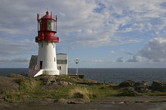 Norwegian Lighthouse. A lighthouse in a sunny day in Norway Royalty Free Stock Photography