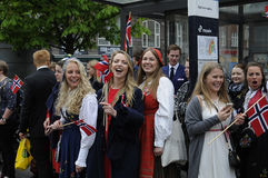 NORWEGIAN LIVING IN DENAMRK CELEBRAT THIER NAATIONAL DAY Stock Photo