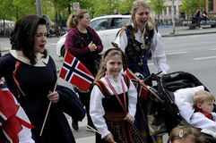 NORWEGIAN LIVING IN DENAMRK CELEBRAT THIER NAATIONAL DAY Stock Image