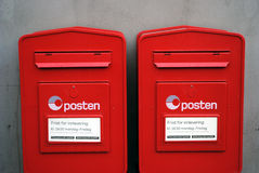 Norwegian mail boxes Royalty Free Stock Photography
