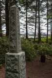 Norwegian Memorial on Kayostia Beach Stock Photos