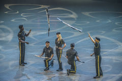 Norwegian Military Tattoo 8 May 2014. From Oslo Spektrum 8 May 2014. Closed performance to celebrate the Liberation Day & Veterans' Day. New Guard America Drill Royalty Free Stock Image