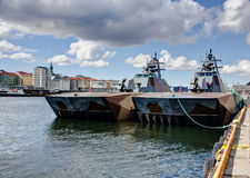 Norwegian millitary ships Royalty Free Stock Photography