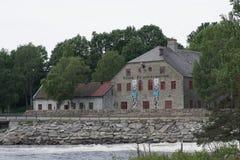 Norwegian Mining Museum. In Kongsberg (in norwegian: Norsk Bergverksmuseum stock photography