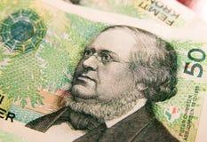 Norwegian money. Norwegian crowns  as a background. Portrait of Peter Christen Asbjørnsen on a banknote Royalty Free Stock Photo