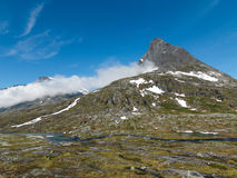 Norwegian Mountain Area Royalty Free Stock Photography