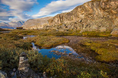 Norwegian mountain autumn landscape Royalty Free Stock Photo
