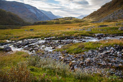 Norwegian mountain autumn landscape near Geiranger Stock Images
