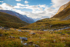 Norwegian mountain autumn landscape near Geiranger Stock Photo