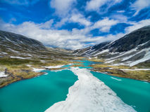 Norwegian mountain lake Stock Photo