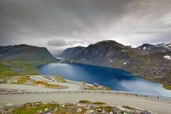 View of Djupvatnet lake near Geirangerfjord, Dalsnibba - Norway - Scandinavia Stock Photography
