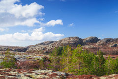 Norwegian mountain landscape with cloudy sky Stock Photography