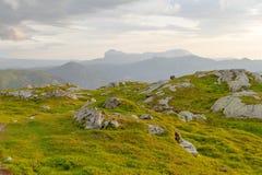 Norwegian mountain range Stock Photography