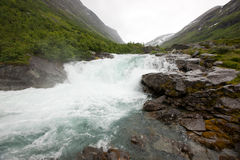 Norwegian mountain river Stock Photo
