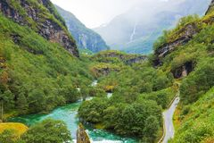 Norwegian mountain scenery Royalty Free Stock Photos