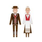 Norwegian national costume Stock Images