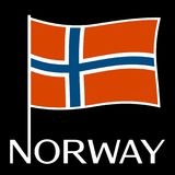 Norway national flag. Vector illustration Stock Images