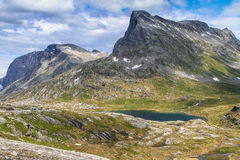 Norwegian national road RV63 Royalty Free Stock Photography