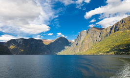Norwegian nature. Fiords and mountains Stock Photography