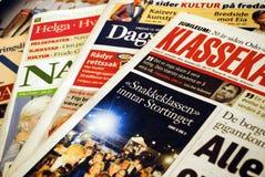 Norwegian newspapers Royalty Free Stock Photo