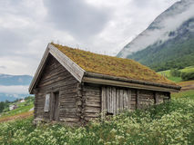 Norwegian old house Royalty Free Stock Photo
