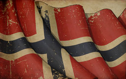 Norwegian Old Paper Background Royalty Free Stock Photography