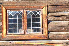 Norwegian old stained-glass window Stock Photography