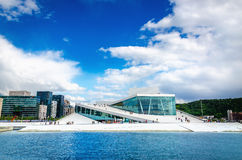 The Norwegian Opera and modernd Oslo, Norway Royalty Free Stock Image