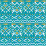 Norwegian ornament. Winter seamless pattern with traditional Norwegian ornament royalty free illustration