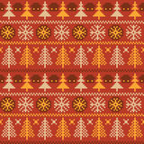 Norwegian ornament. Winter seamless pattern with traditional Norwegian ornament stock illustration