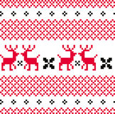 Norwegian ornamental Christmas pattern ( red and w Royalty Free Stock Image