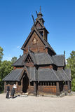 Norwegian Oslo restored stave church. Gol. Bygdoy. Norsk Folkemuseum. Vertical royalty free stock photo