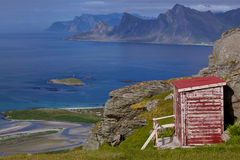 Norwegian panorama on Lofoten Stock Image