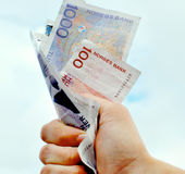 Norwegian Paper Currency Royalty Free Stock Photos