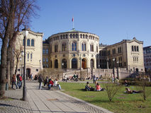 The Norwegian Parliament. The Norwegian Parliamnt in Oslo, Norway royalty free stock images